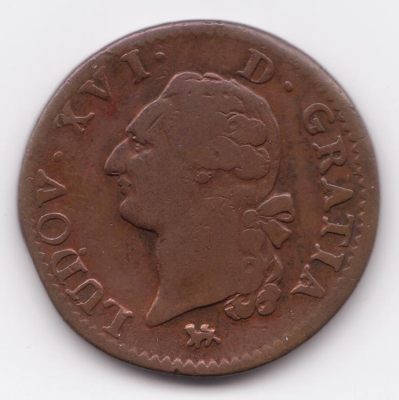 Louis xvi - Sol en piece de monnaie ...
